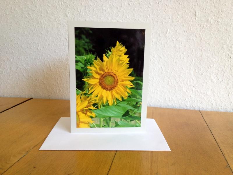 Foto-Grußkarte B6 mit Sonnenblume