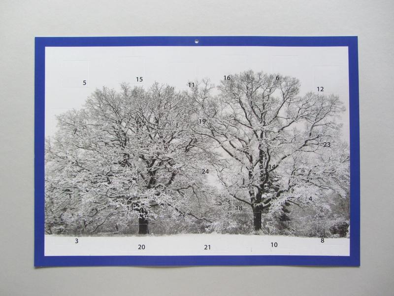 Adventskalender Zwei Bäume im Schnee auf dem Bonner Kreuzberg